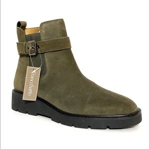 Franco Sarto Meridian Military Green Leather Boots